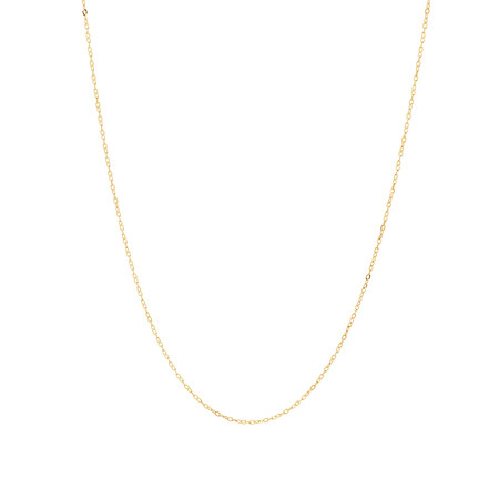 """45cm (17"""") Solid Cable Chain In 10ct Yellow Gold"""