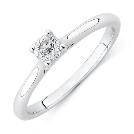 Evermore Solitaire Engagement Ring with a 0.25 Carat TW Diamond in 14ct White Gold