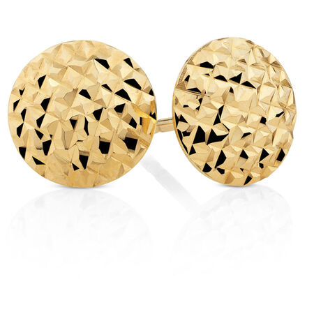 8mm Stud Earrings in 10ct Yellow Gold