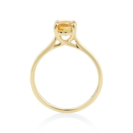 Citrine Ring in 10ct Yellow Gold