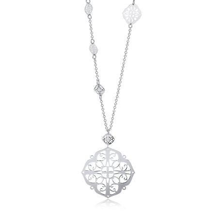 "70cm (28"") Filigree Necklace in Sterling Silver"