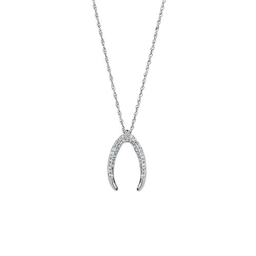 Small Mark Hill Pendant with 1/4 Carat TW of Diamonds in 10ct White Gold