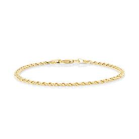 """18cm (7.1"""") Fancy Double Link Bracelet in 14ct Yellow Gold"""