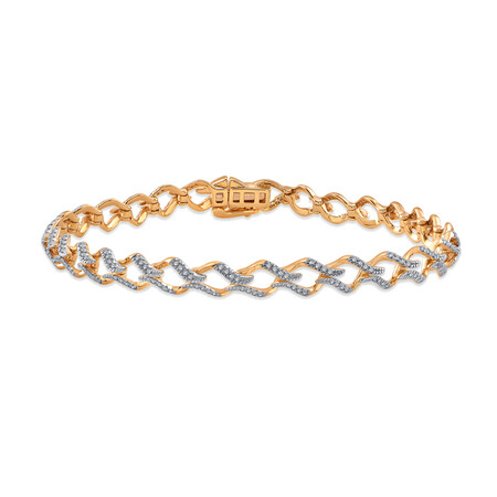 Bracelet with 0.68 Carat TW of Diamonds in 10ct Yellow Gold