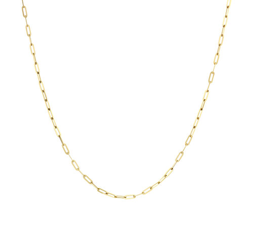 60cm Paperclip Chain in 10ct Yellow Gold