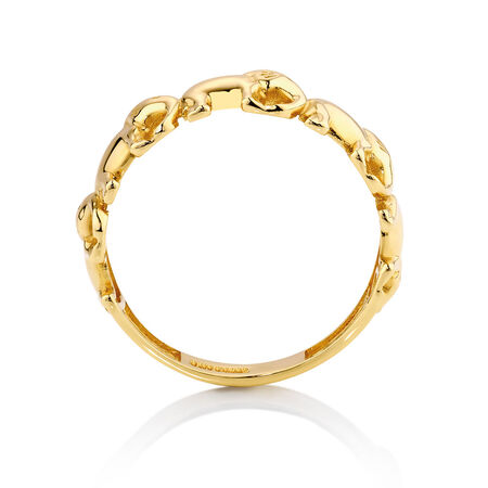 Elephant Ring in 10ct Yellow Gold
