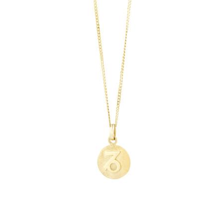 Capricorn Zodiac Pendant In 10ct Yellow Gold