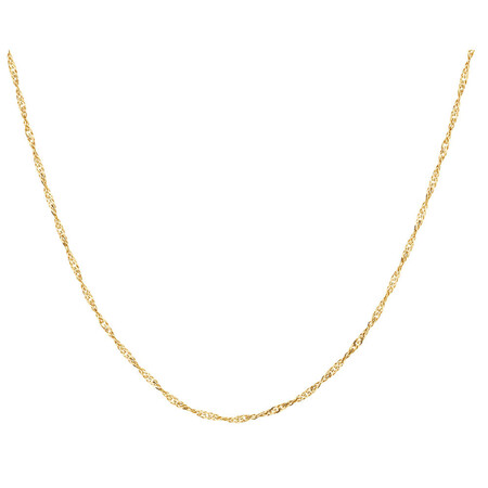 """55cm (21.5"""") Hollow Singapore Chain in 10ct White Gold"""