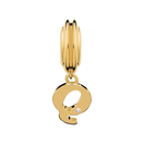 Diamond Set & 10ct Yellow Gold 'Q' Charm