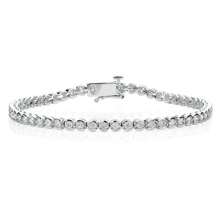 Tennis Bracelet with 2 Carat TW of Diamonds in 14ct White Gold