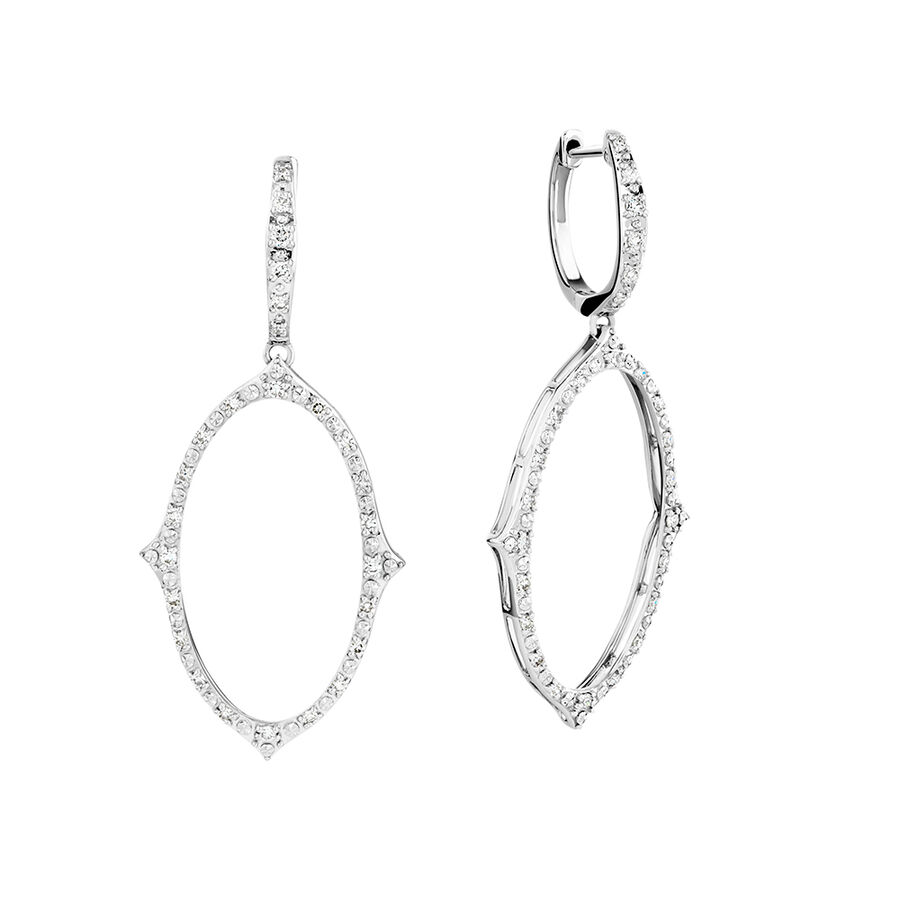 Diamond Earrings with 0.34 Carat TW of Diamonds in 10ct White Gold