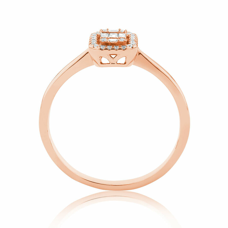 Promise Ring with 0.15 Carat TW of Diamonds in 10ct Rose Gold
