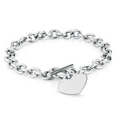 Heart Belcher Bracelet in Sterling Silver