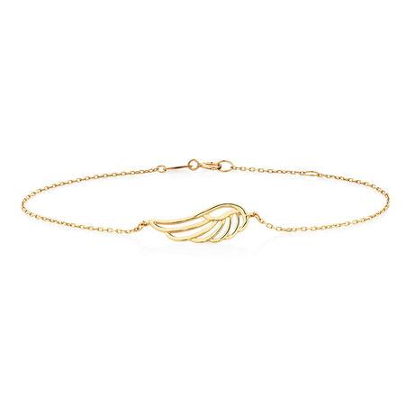 "19cm (7.5"") Angel Wing Bracelet in 10ct Yellow Gold"