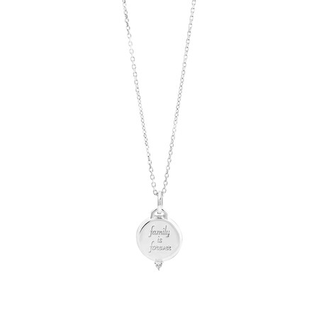 Engraved Pendant in Sterling Silver