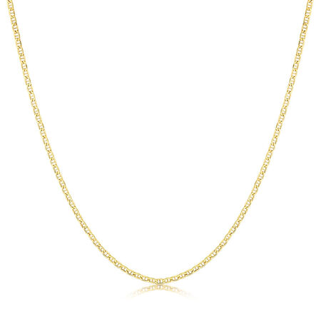 "50cm (20"") Anchor Chain in 10ct Yellow Gold"