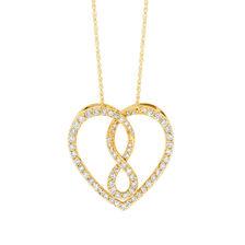 Infinitas Pendant with 1/2 Carat TW of Diamonds in 10ct Yellow Gold