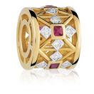 Created Ruby & Diamond Set Charm