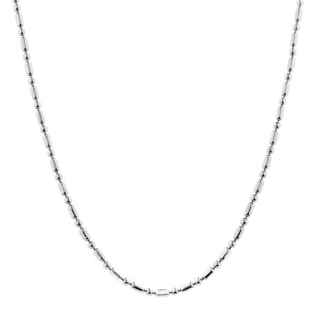 """50cm (20"""") Beaded Chain in Sterling Silver"""