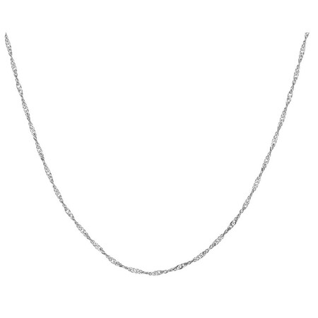 70cm Singapore Chain in 14ct White Gold