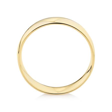 Half Round Wedding Band in 10ct White Gold
