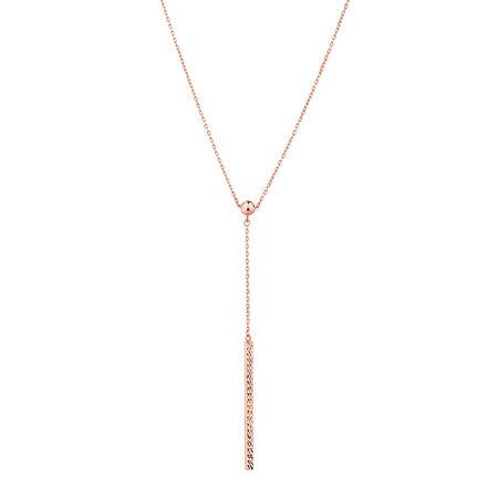 Adjustable Bar Necklace in 10ct Rose Gold
