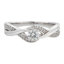 Online Exclusive - Engagement Ring with 0.33 Carat TW of Diamonds in 14ct White Gold