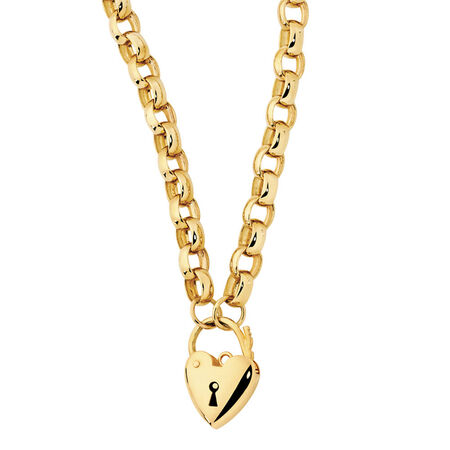 Hollow Belcher Chain in 10ct Yellow Gold