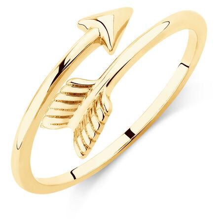 Arrow Wrap Ring in 10ct Yellow Gold