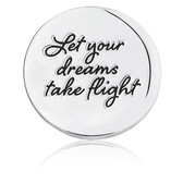 Let Your Dreams Take Flight' Coin Locket Insert in Sterling Silver