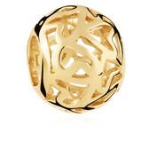 10ct Yellow Gold Filigree Charm