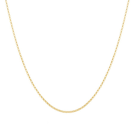 """60cm (24"""") Hollow Belcher Chain in 10ct Yellow Gold"""