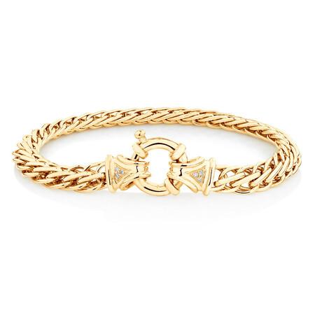 Fishbone Bracelet in 10ct Yellow Gold