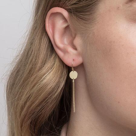 Tassle Drop Earrings in 10ct Yellow Gold