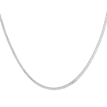 """45cm (18"""") Curb Chain in Sterling Silver"""