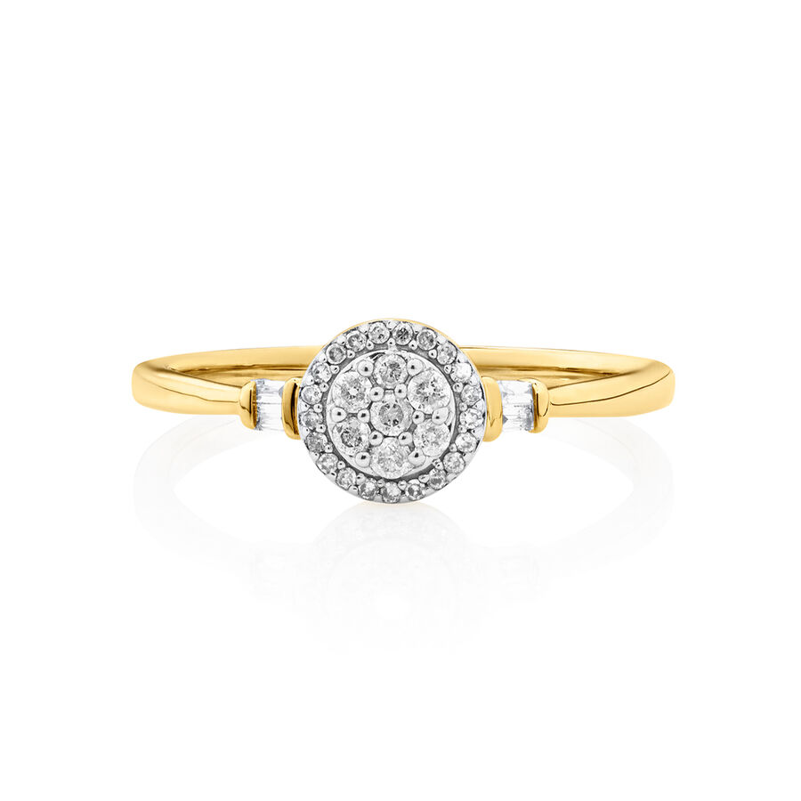 Evermore Promise Ring with 0.15 Carat TW of Diamonds in 10ct Yellow Gold