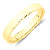 Half Round Wedding Band in 10ct Yellow Gold