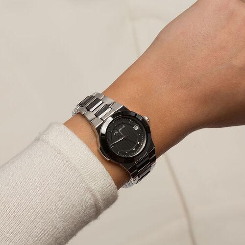 Ladies Watch in Black Ceramic & Stainless Steel