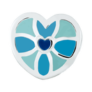 Blue & Mint Heart Enamel Charm