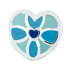 Blue & Mint Heart Enamel Charm