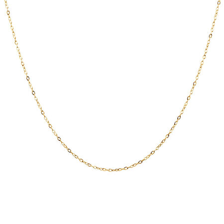 "40cm (16"") Solid Cable Chain in 10ct Yellow Gold"