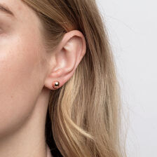 7mm Ball Stud Earrings in 10ct Rose Gold