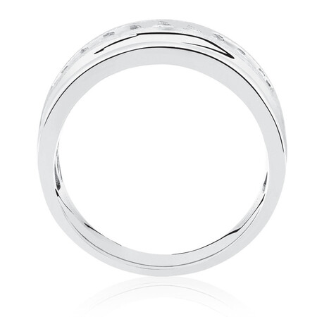 Men's Ring with 1/2 Carat TW of Diamonds in 10ct White Gold