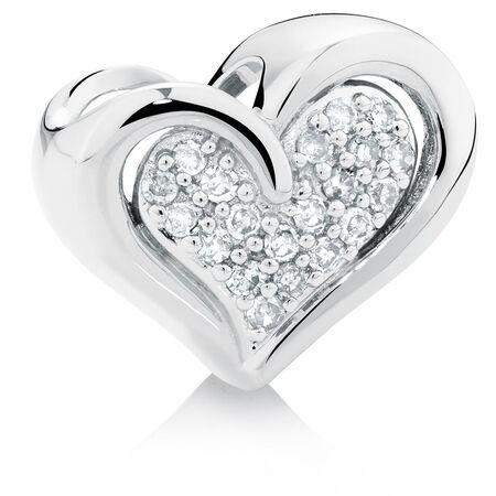 Diamond Set Heart Charm