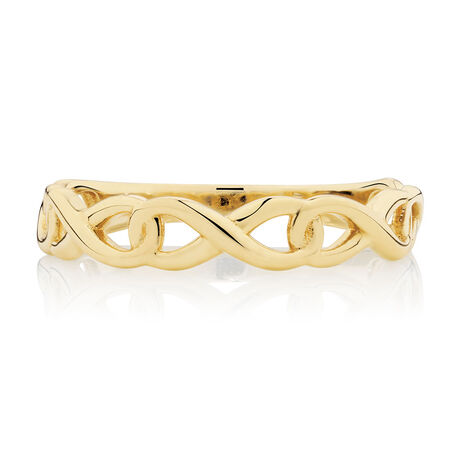 Infinity Link Ring in 10ct Yellow Gold