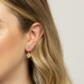Compass Earrings with Diamonds in 10ct Yellow Gold