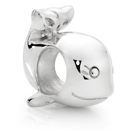 Sterling Silver Whale Charm