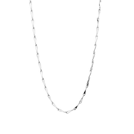 """45cm (18"""") Infinity Chain in 10ct White Gold"""
