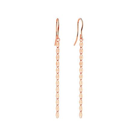 Strand Drop Earrings in 10ct Italian Rose Gold