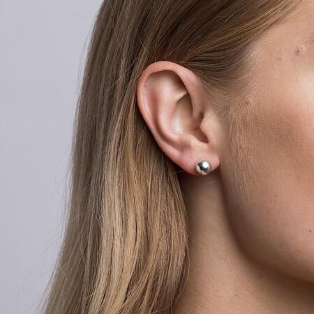 8mm Ball Stud Earrings in Sterling Silver